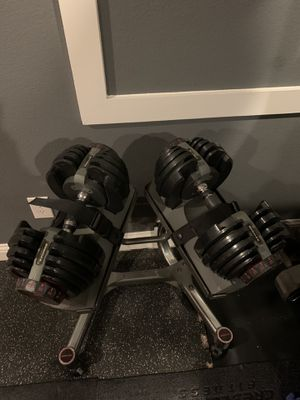 Bowflex adjustable weights w/stand for Sale in Haslet, TX