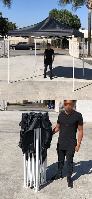 $90 NEW Black 10x10 Ft Outdoor Ez Pop Up Wedding Party Tent Patio Canopy Sunshade Shelter w/ Bag for Sale in Whittier, CA