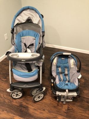 Chicco infant car set with stroller for Sale in South Brunswick Township, NJ