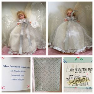 Disneyland exclusive limited edition madame alexander SILVER SENSATION angel tree topper doll - NEW in box for Sale in Tustin, CA