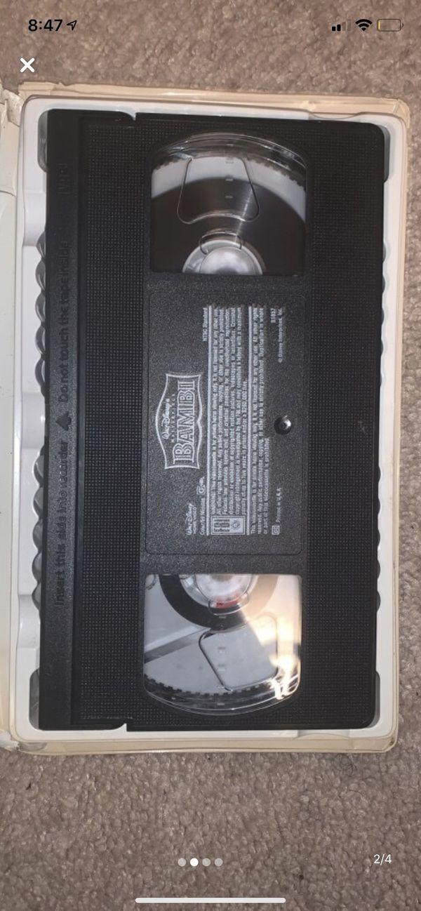 Bambi VHS Tape 55th L.E.