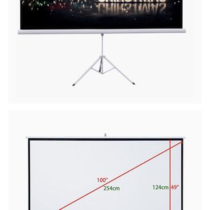 "Projector Auledio Portable 100"" 16:9 HD Manual Pull Down Video Projection Screens for Sale in Milpitas, CA"