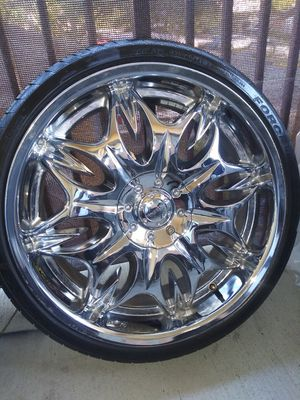 """😮Incubus 20"""" rims 8 1/2 225/35R 20 universal 10 lugs for Sale in Pinellas Park, FL"""