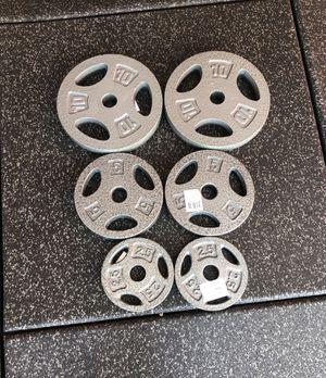 Standard Weight Plates Set 2x 10 lbs 2x 5 lbs 2x 2.5 lbs -Brand New! for Sale in Santa Clarita, CA