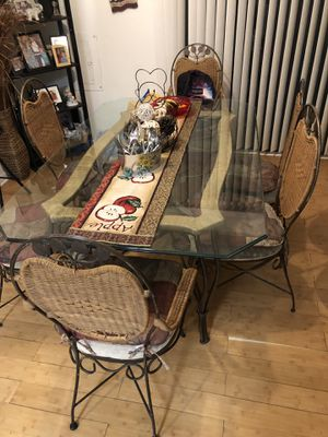 Glass Dinning table + 6 Chairs for Sale in Germantown, MD