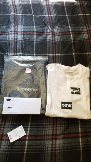 Supreme box logo cdg north face sog Van's bape kith hype bearbrick for Sale in Rancho Cucamonga, CA