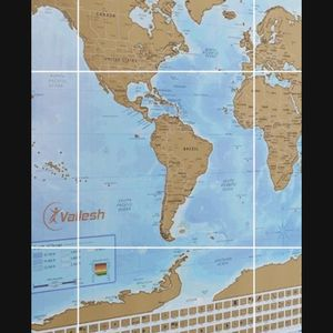 New World Map 🗺! You Can Scratch Away The Places You've Been Or Hang On A Wall. Cool Holiday Gift For That Traveler Or Dreamer In Your Life for Sale in Anaheim, CA
