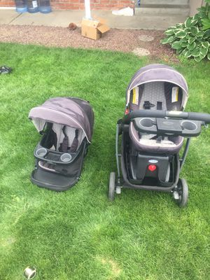 Stroller and baby seat 4 in 1 for Sale in Wenatchee, WA