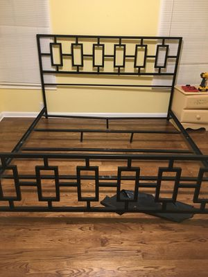 Full size bed mattress box springs and bed frame for Sale in Franklin, TN