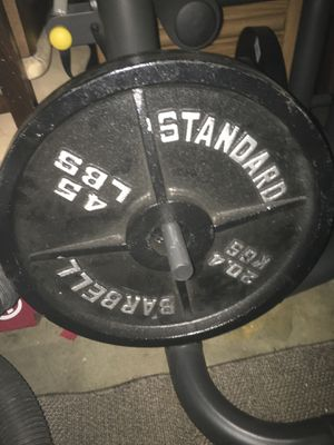 Standard Barbell Plates/Bar for Sale in Benicia, CA