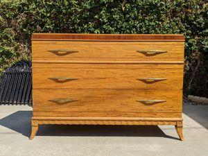 4 pieces Antique Art Deco Furniture - Dresser, Mirrors, Headboard, Footboard for Sale in Upland, CA