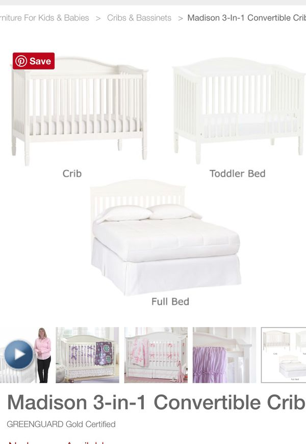 Pottery Barn Kids Madison 3 In 1 Crib For Sale In Ladera