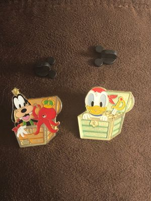 TOKYO DISNEY SEA (Baby GOOFY & DONALD TREASURE CHEST) TRADING PINS for Sale in Davenport, FL