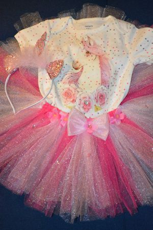 Purple pink unicorn tutu outfit/costume for Sale in Phoenix, AZ