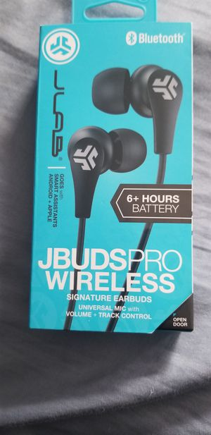 JLab Audio - JBuds Pro Signature Wireless Earbud Headphones - Black for Sale in Santa Ana, CA