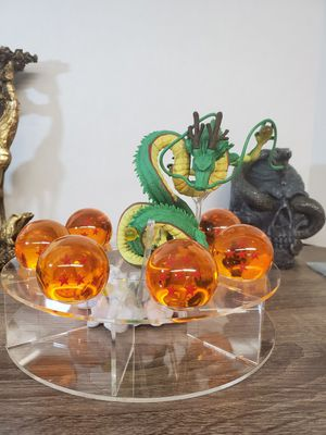 Japanese anime dragon ball z shenron with 7 crystal dragon ball and clear stand figure toy for Sale in San Gabriel, CA