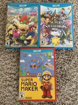 Nintendo Wii U Games Mario and Super Smash Bros. for Sale in Monroeville, PA