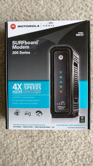 Motorola Modem and Netgear router for Sale in Gaithersburg, MD