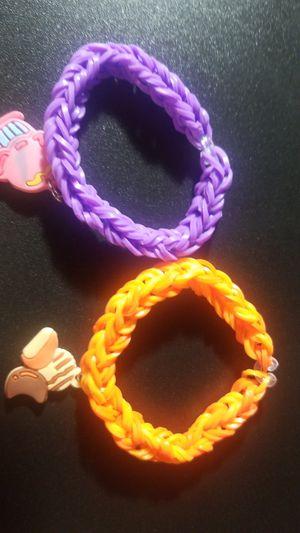 Dessert Bracelets (rainbow loom) with Charm for Sale in Corona, CA