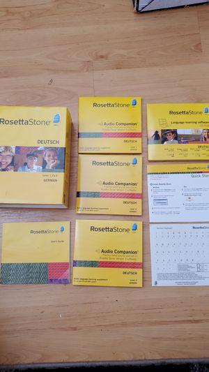 ROSETTA STONE DEUTSCH GERMAN LEVEL 1,2&3 VERSION 3 for Sale in Edmonds, WA