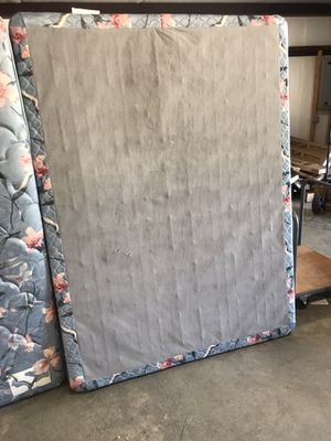 Double side queen mattress and box. With queen head board foot board, and slats. for Sale in Murphy, NC