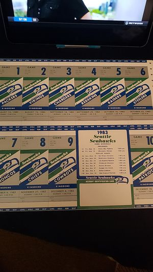 1983 uncut tickets for the Seahawks for Sale in Kenmore, WA