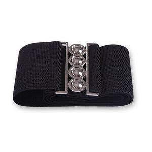 "Women's Fashion Elastic Cinch Women Belt 3"" Wide Stretch Waist Band Clasp Buckle Black(womanbelt-blk-USA) for Sale in Riverside, CA"