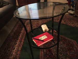 Glass end table for Sale in Burbank, CA