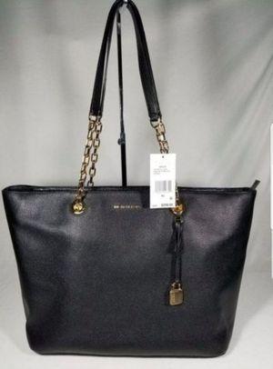 NWT Michael Kors MK Studio Mercer Chain Medium Top Zip Tote black gold HANDBAG BAG PURSE $298 PRESENT GIFT for Sale in Garden Grove, CA