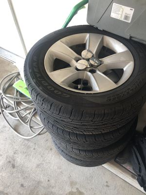 4 barely used set of Dodge Charger Rims and Good year Tires (p215/65r17) for Sale in Waukegan, IL