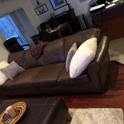 Leather couch 96 inches $25 for Sale in Philadelphia,  PA