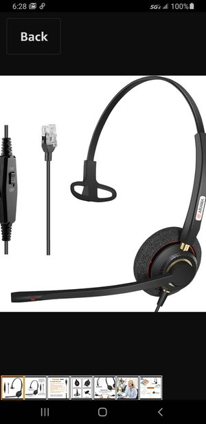 Arama Cisco Headset with Noise Canceling Microphone Adjustable Volume Mute Switch ONLY for Cisco IP Phones for Sale in Las Vegas, NV