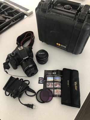 Canon Rebel T2i w/ 50mm lens and case for Sale in San Juan Capistrano, CA