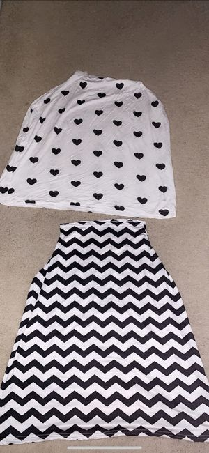 4-1 Stretchy Car seat Cover/nursing cover/high hair cover/grocery cart cover both the zig-zag & heart design for $25 for Sale in Folsom, CA