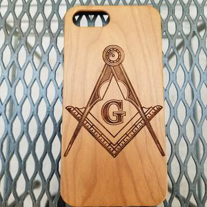 Masonry Design laser engraved wood case for Sale in Newport Beach, CA