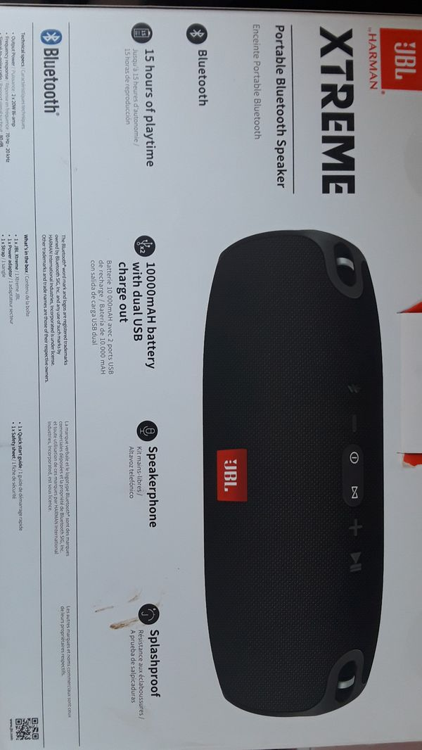 JBL Harman Xtreme portable Bluetooth speaker