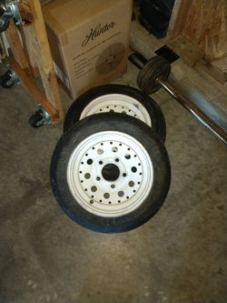 Trailer rims tires for Sale in Victorville,  CA