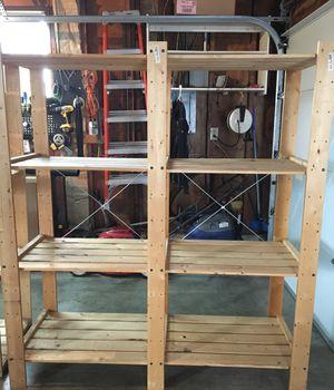 IKEA wood storage shelves for Sale in Enumclaw, WA