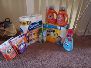 Laundry and paper products bundle for Sale in North Arlington, NJ