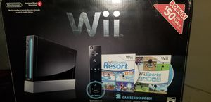 Black Nintendo Wii Boxed with Games for Sale in Los Angeles, CA
