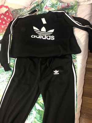 Xl Adidas black suit, $60.00L and xl black and white champion$40 hoodie for Sale in Salem, MA
