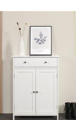 Floor Cabinet White 2 Door 1 Drawer for Sale in Garden Grove,  CA