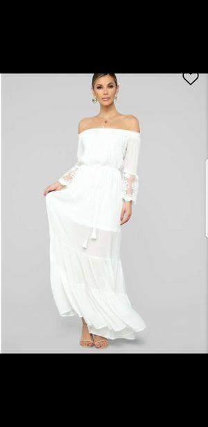 Womens white boho maxi dress for Sale in San Diego, CA