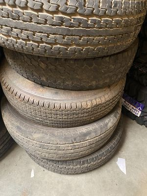 5x used ST 205x75-14 trailer tires $125. No bargaining for Sale in Fontana, CA