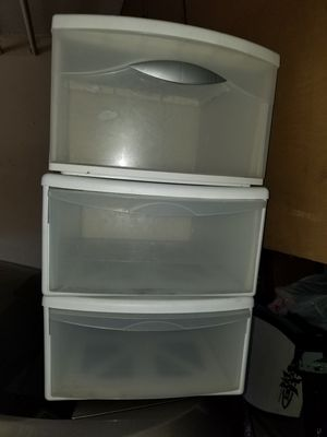 3 plastic drawers for Sale in Santa Ana, CA