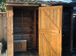 Cedar Wood storage shed/ Sauna shed for Sale in Santa Clara, CA