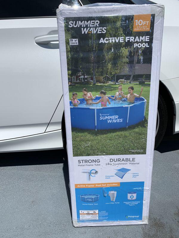 Summer Waves 10ft metal frame pool