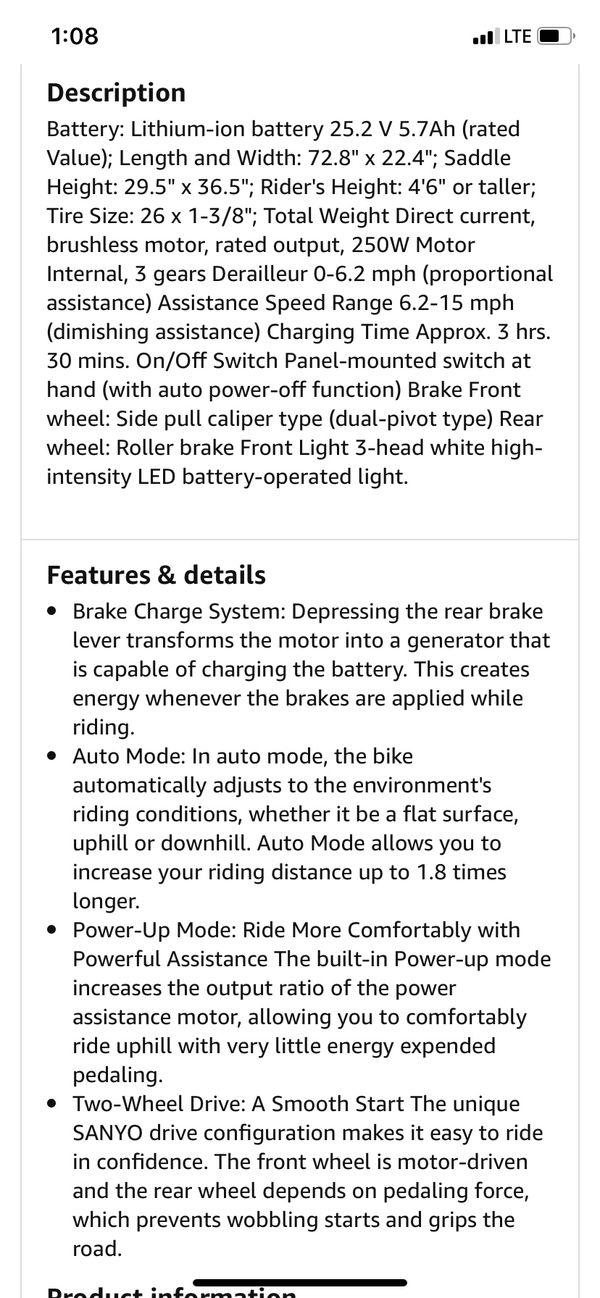 Sanyo Eneloop Electric bicycle