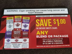 5 SWISHER COUPONS for Sale in Runnemede, NJ