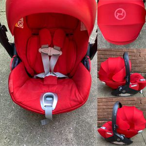 cybex platinum cloud q (Great condition)(RED) car seat for Sale in Joliet, IL